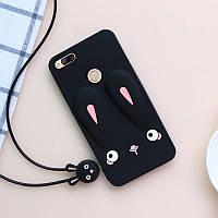Чехол Funny-Bunny 3D для Xiaomi Mi A1 / Mi5X Бампер резиновый черный