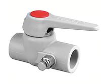 Кран вентильный полипропиленовый PipeLife PP-R DN25 с выпускным клапаном левый