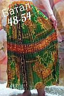 Женская летняя юбка шифон большой размер