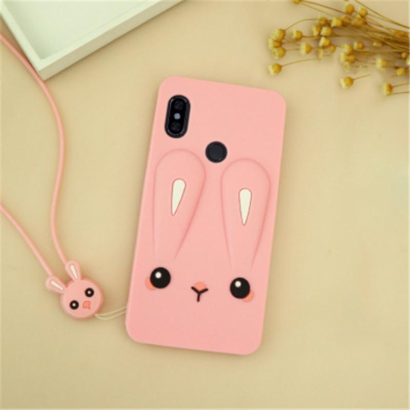 Чехол Funny-Bunny 3D для Xiaomi Redmi Note 5 Global / Note 5 Pro  бампер резиновый Розовый