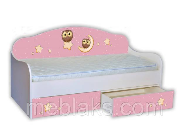 "Кровать Диванчик ""Сова на розовом"" Mebelkon, фото 2"