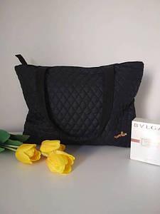 Черная дорожная сумка с двумя ручками 40*24 см