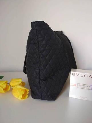Чорна дорожня сумка з двома ручками 40*24 см, фото 2