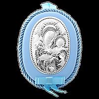 Серебряная икона Мария с младенцем, фото 1