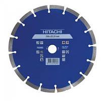 Алмазный диск Hitachi 752855, laser сегмент, 230х22,2х10 мм (20503490)