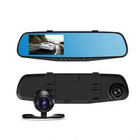 Зеркало регистратор с двумя камерами DVR 138W 4,3`, фото 1