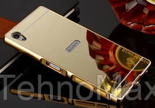 Чехол бампер для Sony Xperia X F5121 зеркальный, фото 2