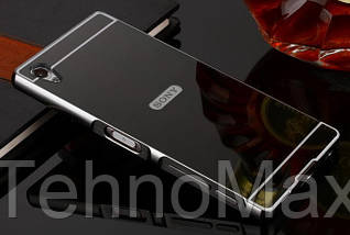 Чехол бампер для Sony Xperia X F5121 зеркальный, фото 3