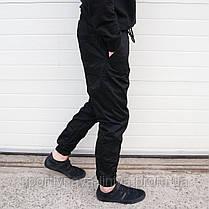Мужские брюки Джогеры черные , фото 2