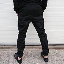 Мужские брюки Джогеры черные , фото 3