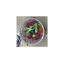 Прищепка бытовая пластик в ведре 24шт/уп N01427 (40уп)