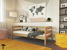 Ліжко в дитячу спальню 80х200  бук Мілена  Лев