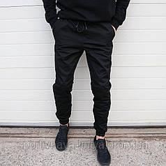 Мужские брюки Джогеры черные