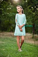 """Нарядное детское платье """"Зигзаг"""" р. 116-134 мята, фото 1"""