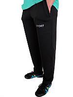 Мужские трикотажные спортивные штаны черные SPORT