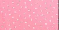Отрез ткани цветочки на розовом 40 х 50 см.