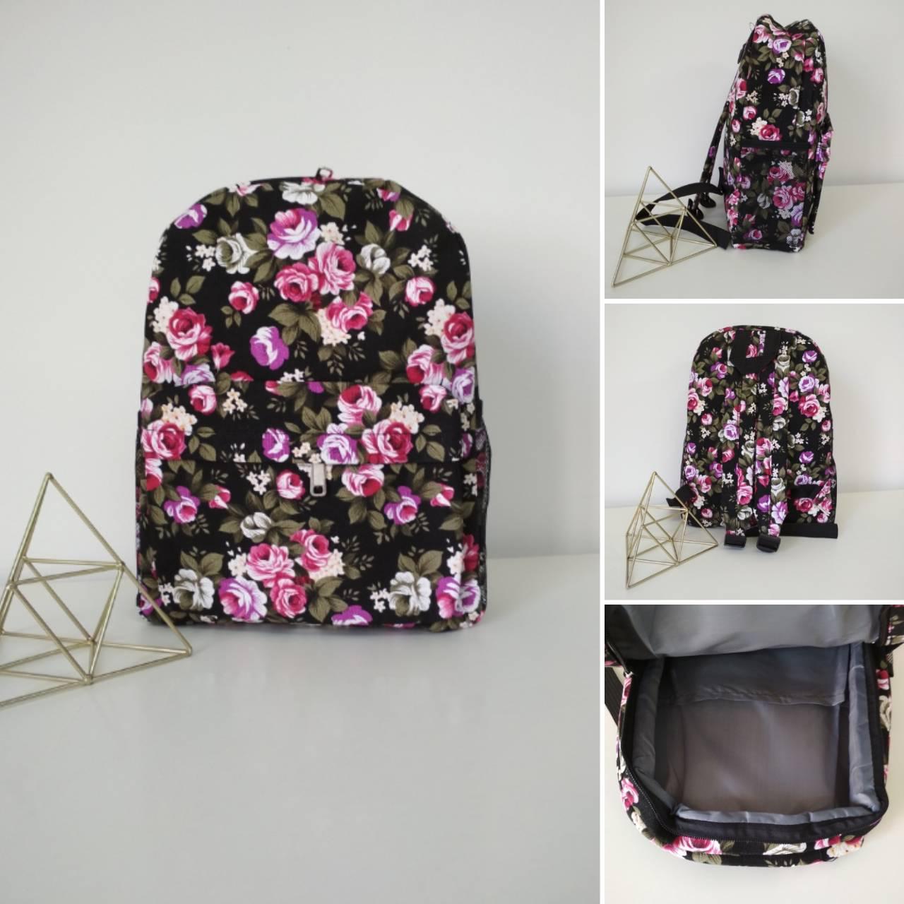 530d1aa4fde8 Рюкзак женский молодежный текстильный с цветочным принтом за 195 грн ...