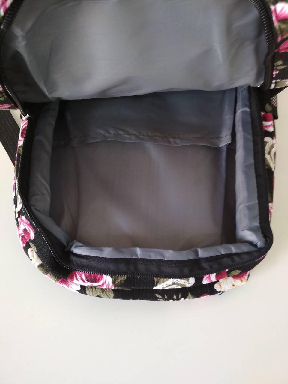 dd692ce403c0 Рюкзак женский молодежный текстильный с цветочным принтом за 195 грн ...