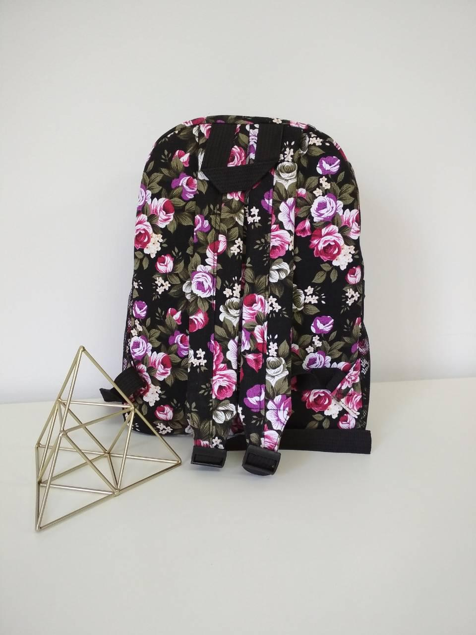 5b57d7fb18b8 ... Рюкзак женский молодежный текстильный с цветочным принтом, фото 5. 195  грн.