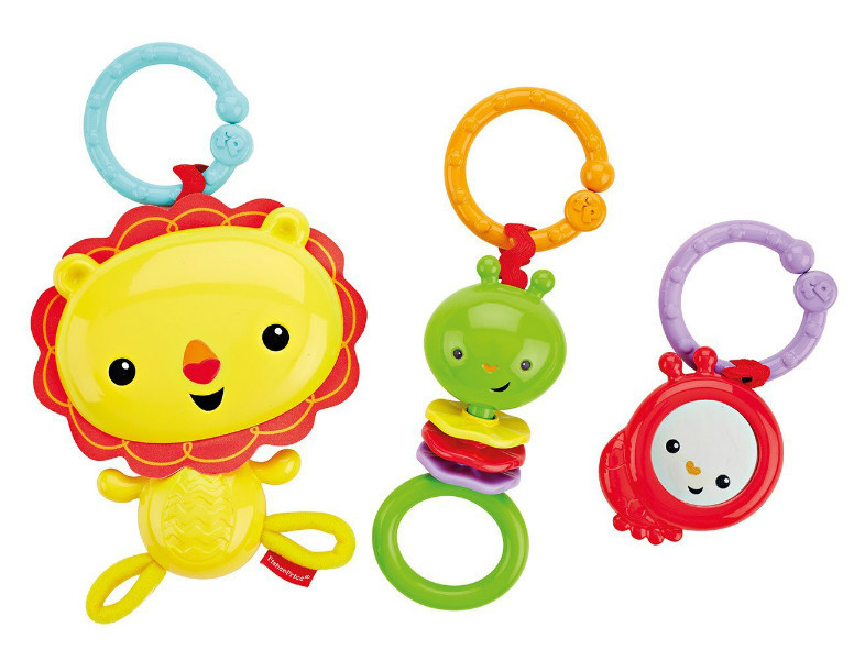 Fisher-Price Набор подвесных игрушек на коляску лев и друзья Linkin' Play Pals