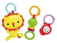 Fisher-Price Набор подвесных игрушек на коляску лев и друзья Linkin' Play Pals, фото 1