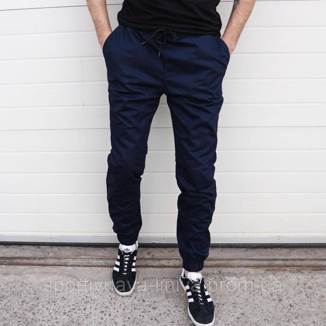 Мужские брюки Джогеры темно-синие