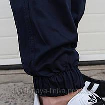 Мужские брюки Джогеры темно-синие , фото 3