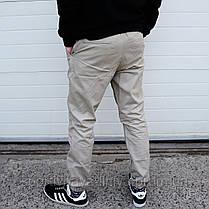 Мужские брюки Джогеры бежевые , фото 2