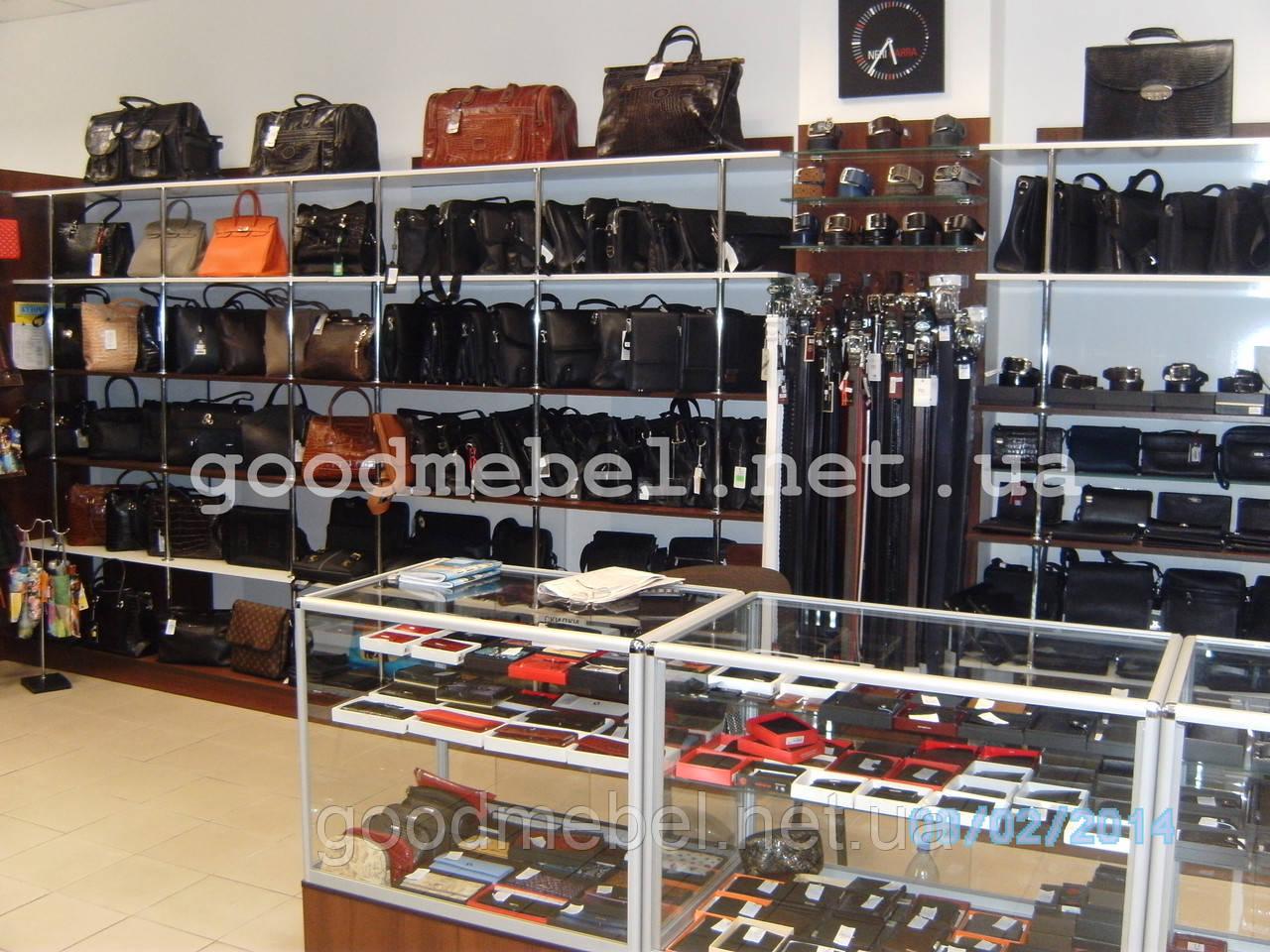 16146420fcf2 Стеллажи, прилавки, витрины для сумок, обуви, аксессуаров. ТО-125 ...