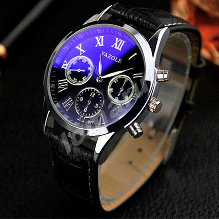 Мужские кварцевые часы Yazole 317 Phantom blue mirror - lomarua в Украине 8fc7b0a3d00