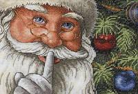 Набор для вышивки крестом Dimensions «Santa's Sekret» / «Секрет Санты»