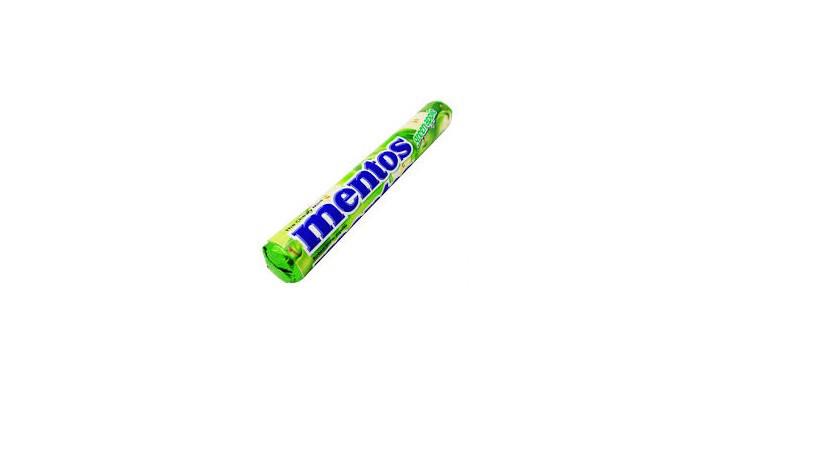 Леденцы mentos green apple 38 г