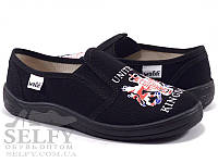 """Текстильные тапочки для мальчика р.30,31,32,33,34,35,36 тм """"Валди"""", (мокасины, слипоны, текстильная обувь), фото 1"""