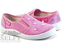 """Текстильные тапочки для девочки  р.30,31,32,33,34,35,36 тм """"Валди"""", (мокасины, слипоны, текстильная обувь), фото 1"""