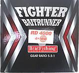 Катушка BratFishing, FIGHTER 4000 BAITRUNNER RD, с бейтраннером 4+1 подш., фото 10