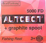 Катушка BratFishing, AUTOBOT 5000 FD, 3+1 подш., фото 7