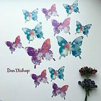 "Бабочки ""Узор""  3D бабочки, 12 шт/набор, без магнитиков., фото 1"