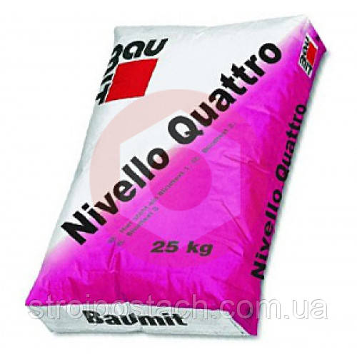 Нивелло Кваттро Самовыравнивающаяся смесь Baumit Nivello Quattro 25 кг