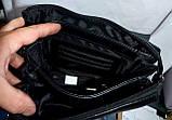 Мужская кожаная барсетка с передней молнией 19*23 см, фото 4