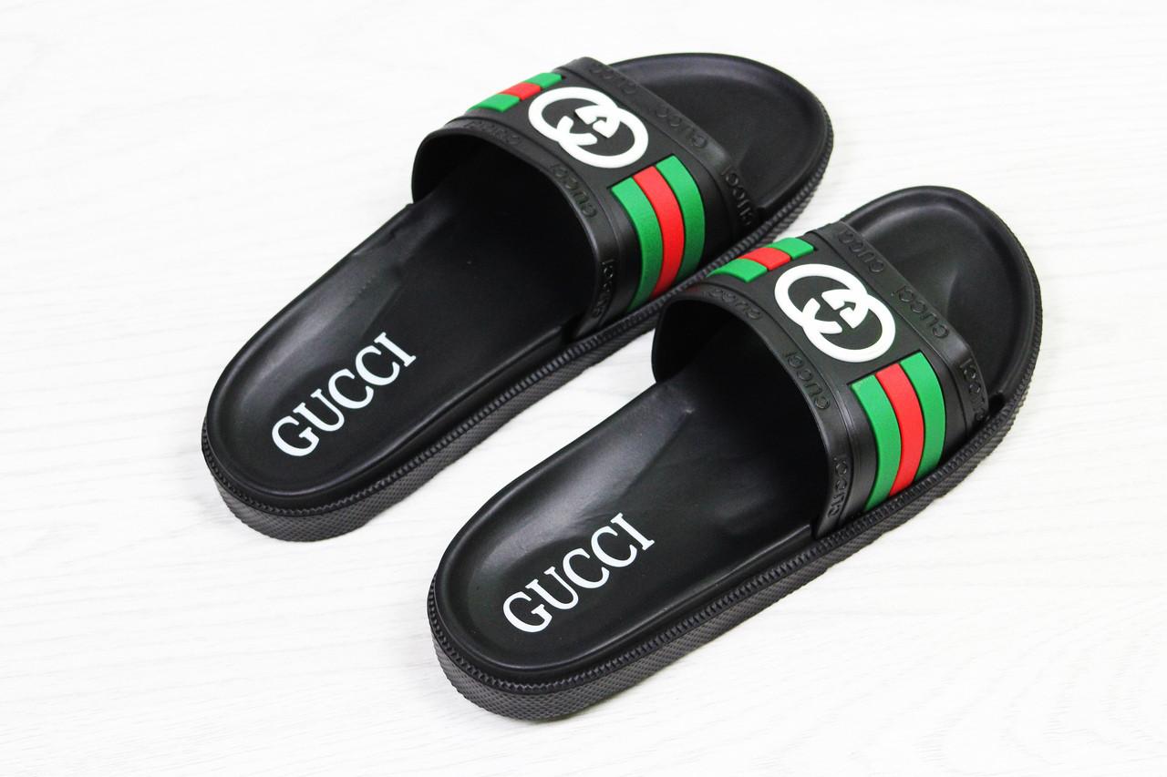 fe2b8c324 shock.org.ua   Шлепки мужские черные Gucci 5534. Цена, купить Шлепки ...