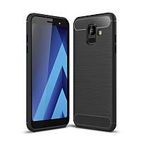 Чехол Carbon для Samsung A6 2018 / A600 бампер оригинальный Black