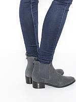 Штиблеты женские кожаные серого цвета Rylko (Штиблети жіночі шкіряні сірого  кольору) 4LY70    WC2 0ccb23c9b2244
