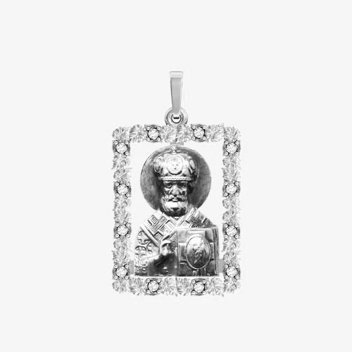 Ладанка серебряная Николай Чудотворец ЛП-123