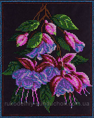 Набір для вишивання хрестом Panna BN-5001 Квіти фуксії
