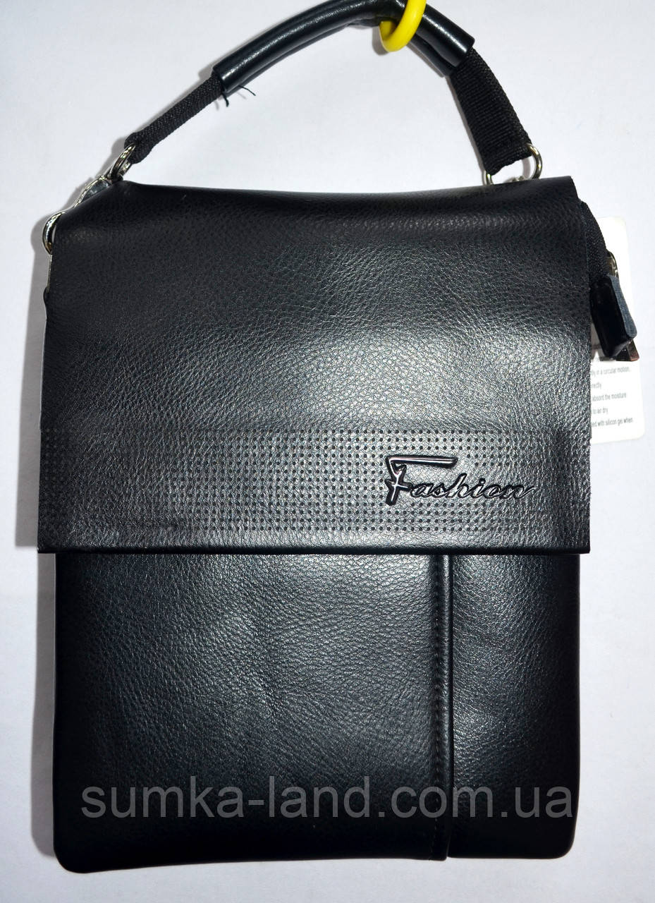 fe4316381a22 Мужская черная кожаная барсетка на плечо 18*25 см: продажа, цена в ...
