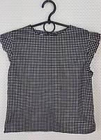 Блузка Ярослава размер 122-146 черно-белая
