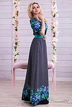 Длинное платье с цветочным принтом (1312-1311-1313 svt), фото 2