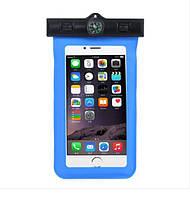Водонепроницаемый чехол для телефона Orienta с компасом синий, фото 1