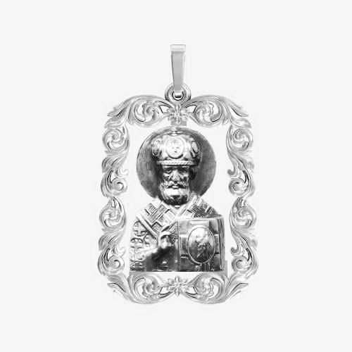Ладанка серебряная Николай Чудотворец ЛП-118