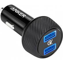 Авто ЗУ ANKER PowerDrive - 2 Quick Charge 3.0 Ports V3 Black